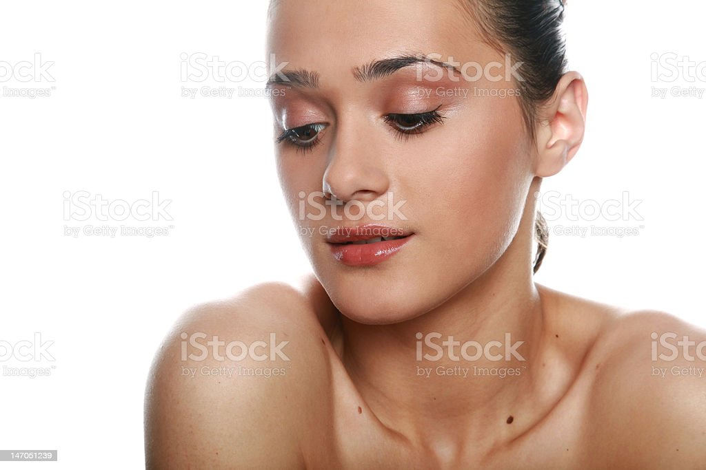 Pretty gitl with a makeup royalty-free stock photo