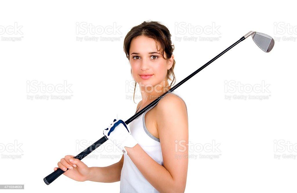 Pretty Golfer stock photo