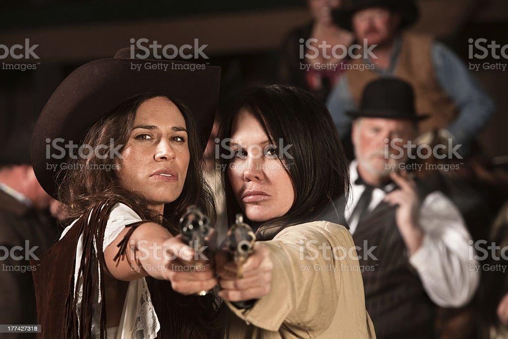 Pretty Gunfighters stock photo