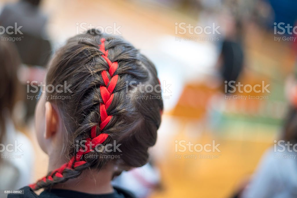 Pretty hairstyle stock photo