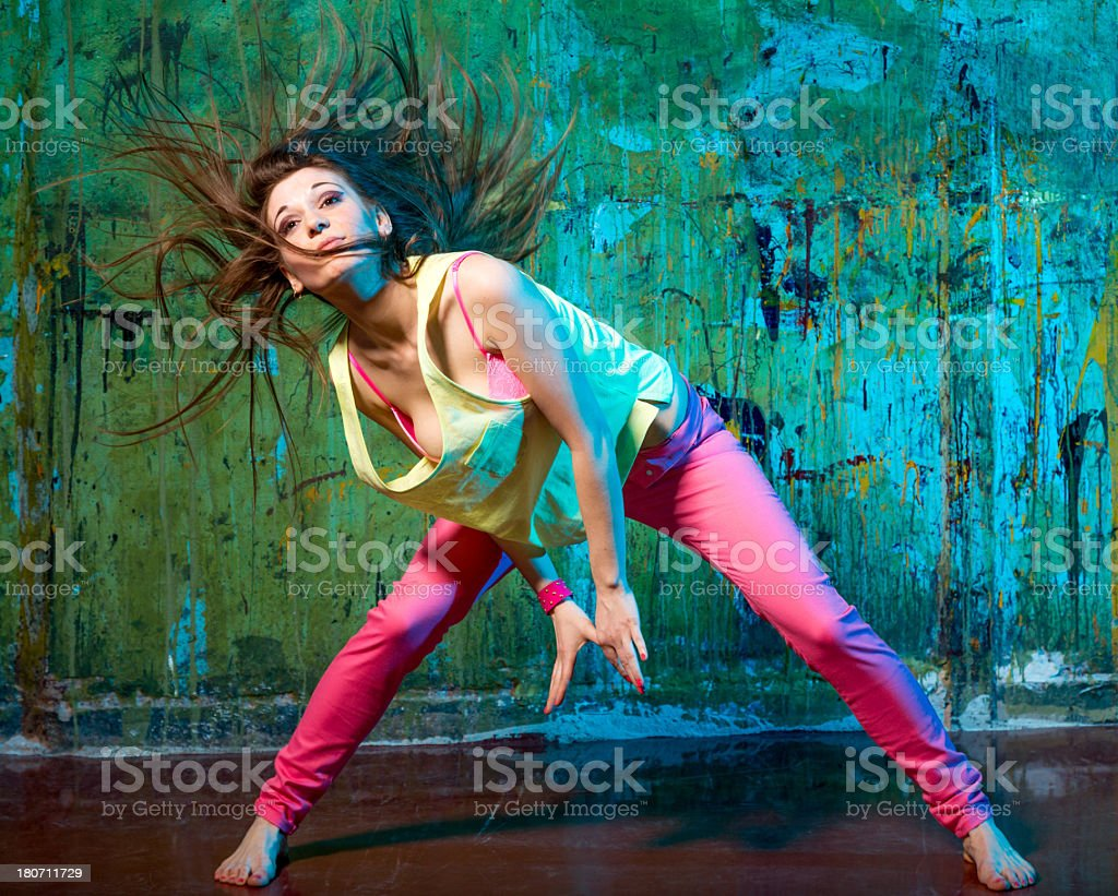 Pretty hip-hop dancer royalty-free stock photo