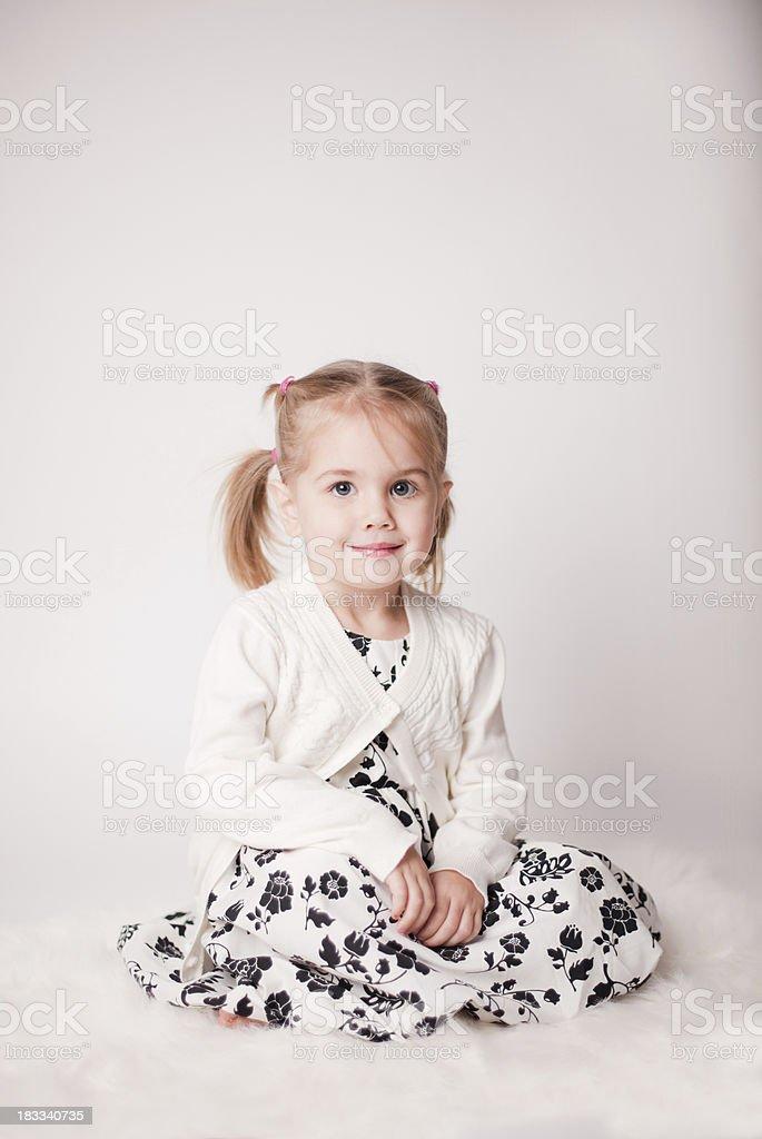 Pretty Holiday Girl royalty-free stock photo