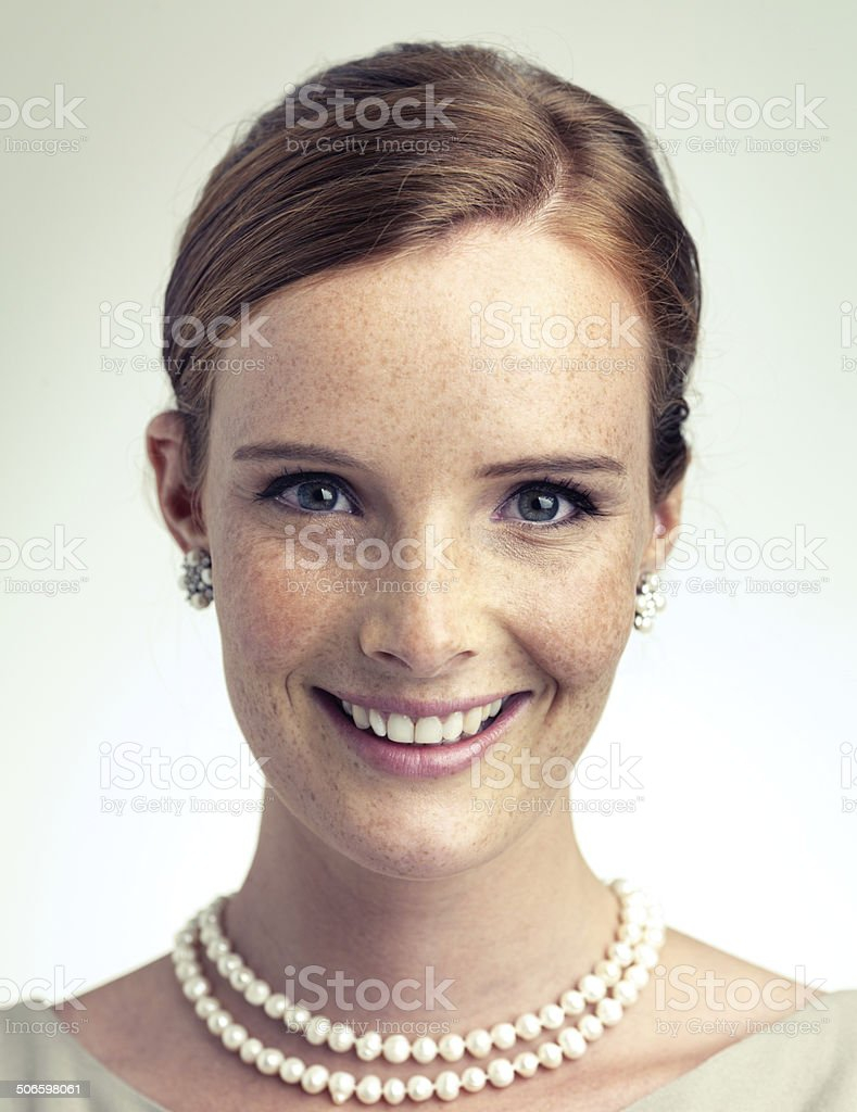 Pretty in pearls royalty-free stock photo
