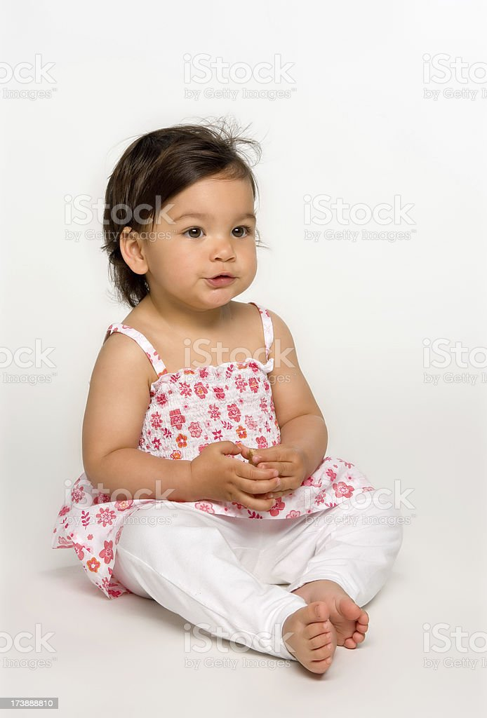 pretty little baby stock photo