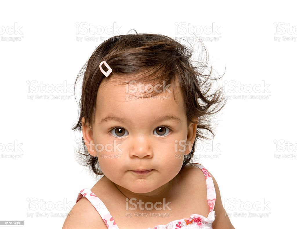 pretty little baby portrait royalty-free stock photo