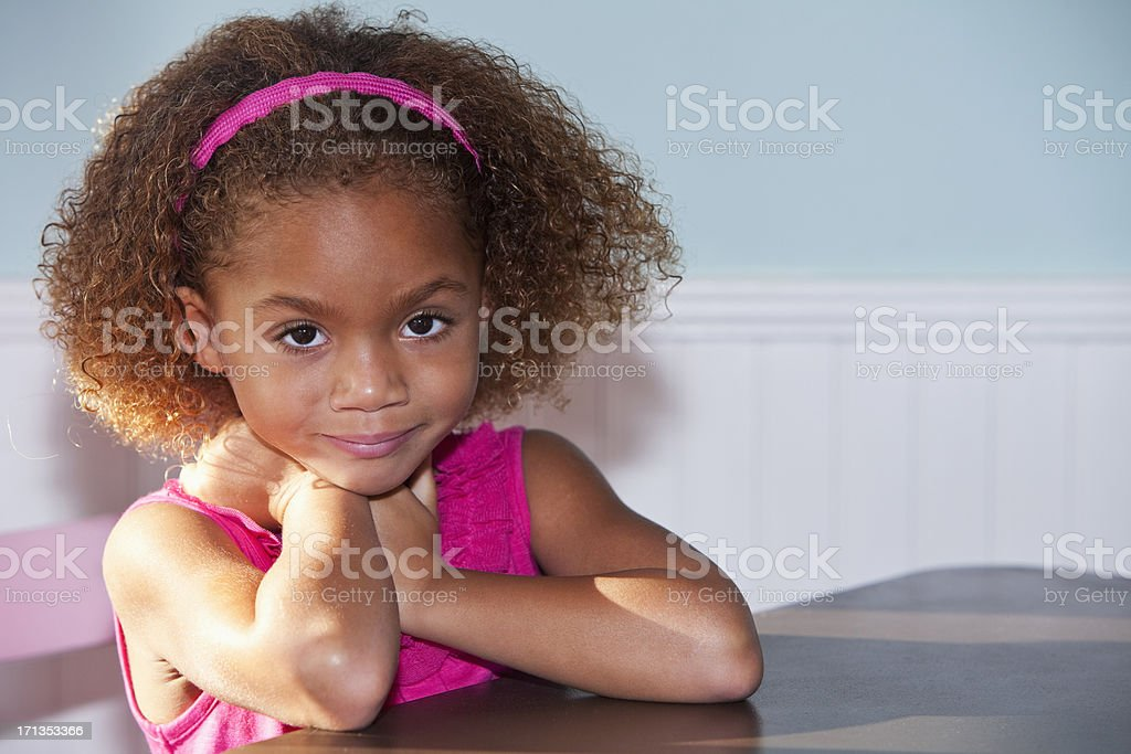 Pretty little girl royalty-free stock photo