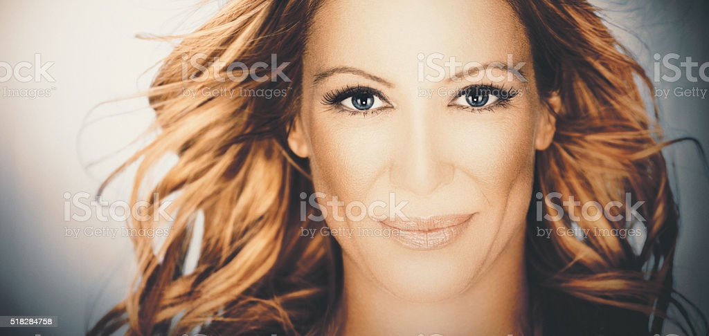Pretty looking woman. stock photo