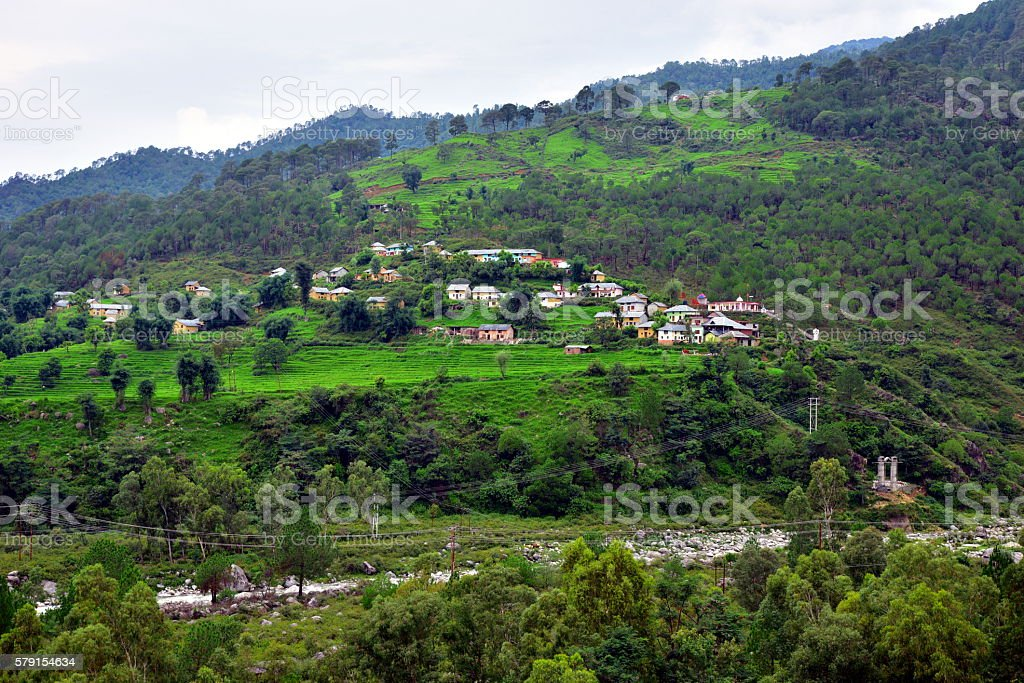 Pretty Lush Green Hills landscape stock photo