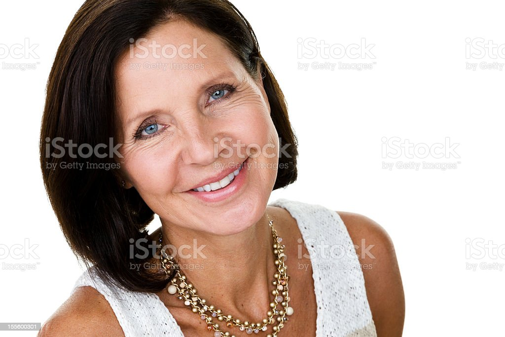 Pretty mature woman dressed smart casual royalty-free stock photo