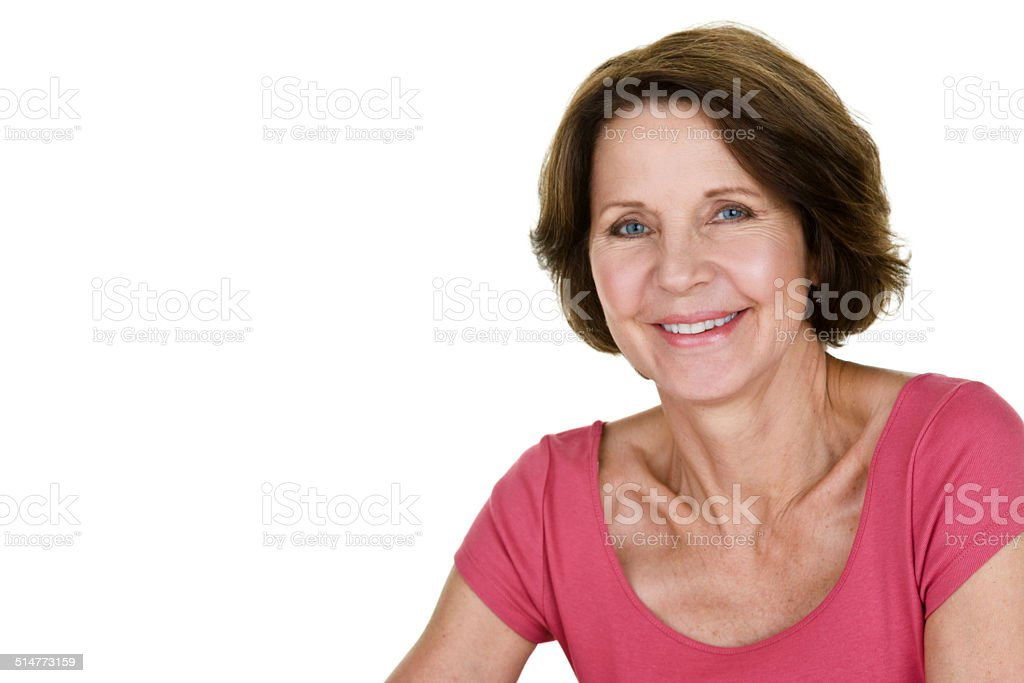 Pretty mature woman stock photo