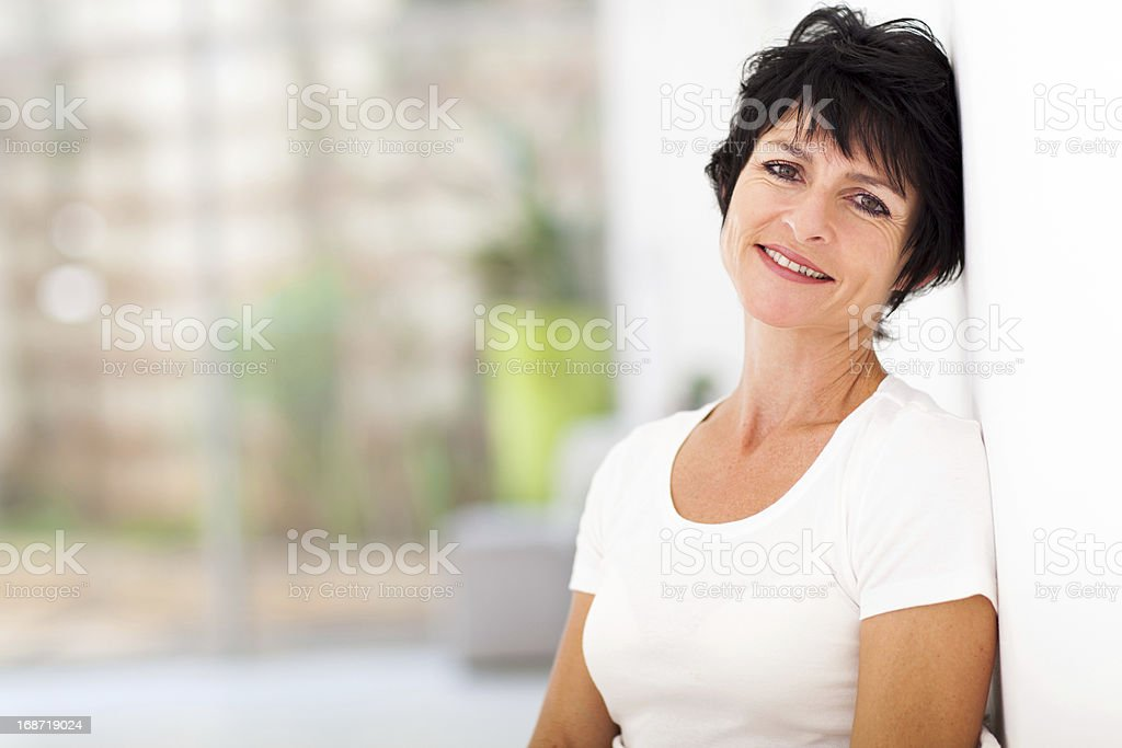 pretty mid age woman relaxing royalty-free stock photo