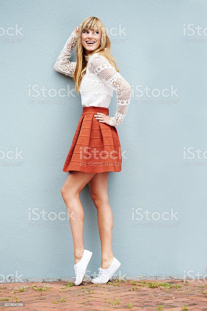 Pretty model posing stock photo