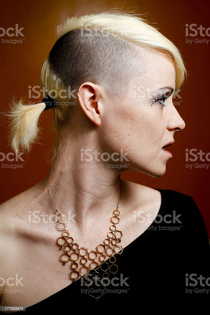Pretty Model with Necklace stock photo