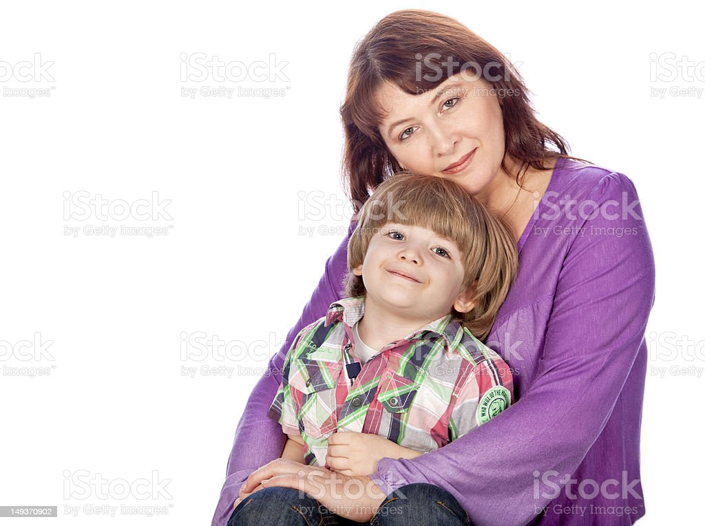 pretty mom and young son royalty-free stock photo