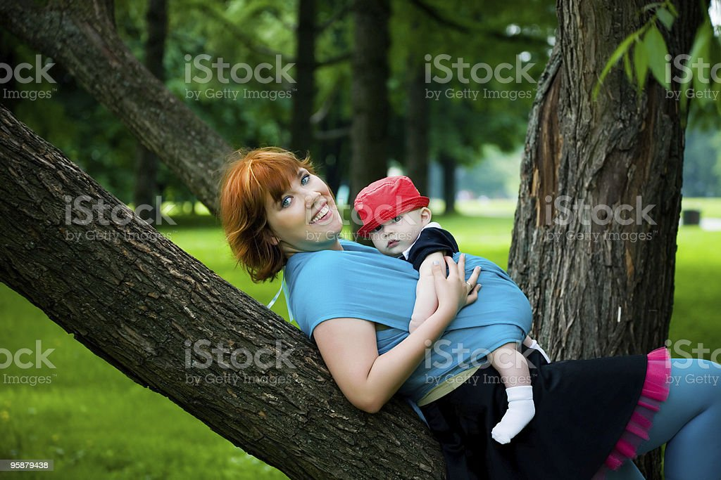 pretty mother with little son royalty-free stock photo