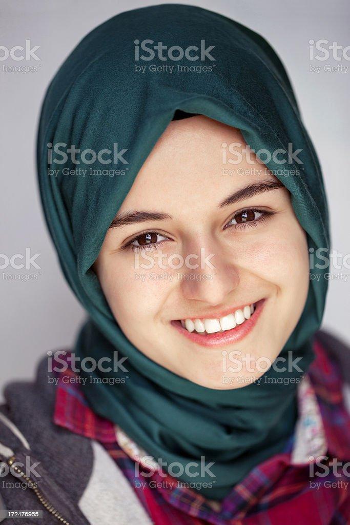 Pretty muslim girl royalty-free stock photo