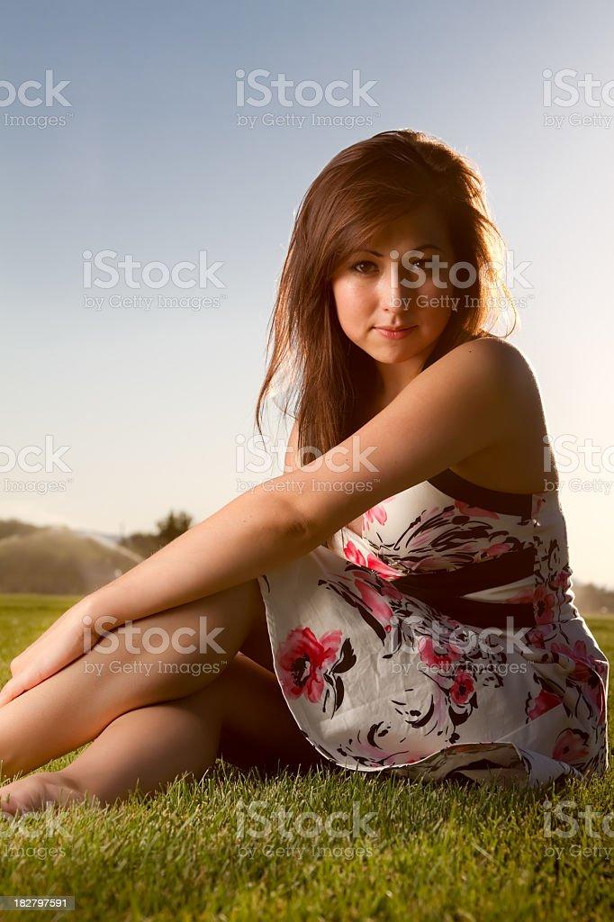 Pretty Native American Girl stock photo