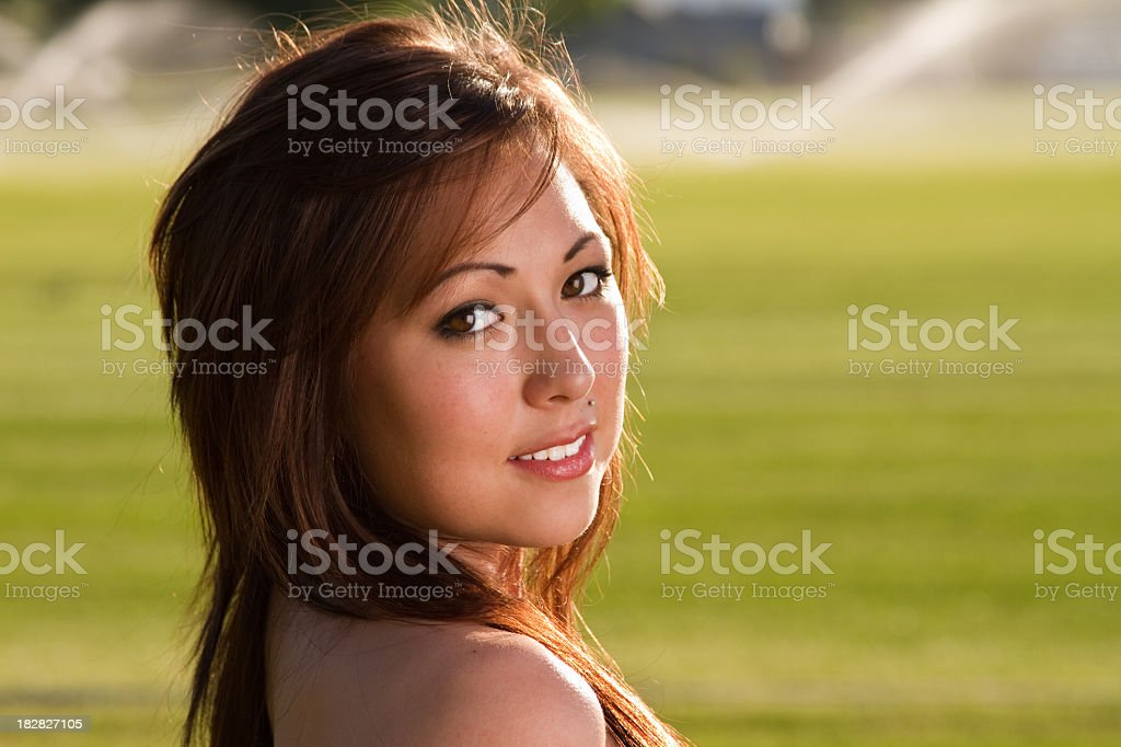 Pretty Native American Girl royalty-free stock photo