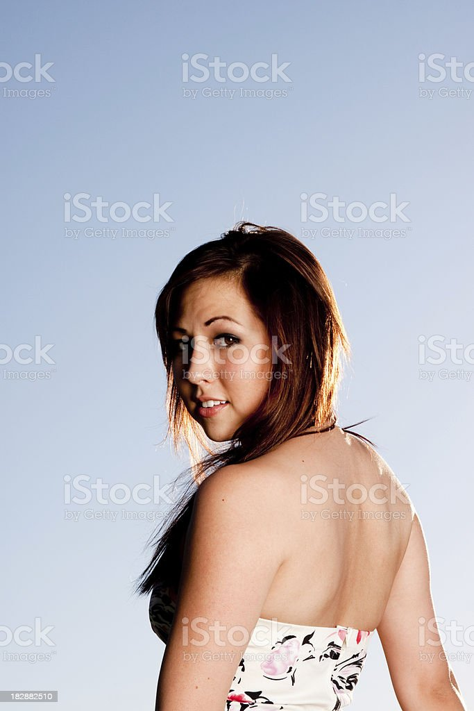 Pretty native american royalty-free stock photo