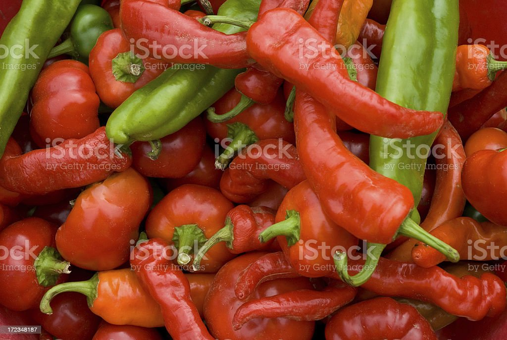 Pretty Peppers royalty-free stock photo