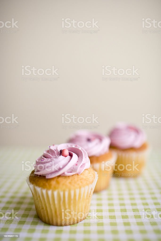 Pretty Pink Cupcake royalty-free stock photo