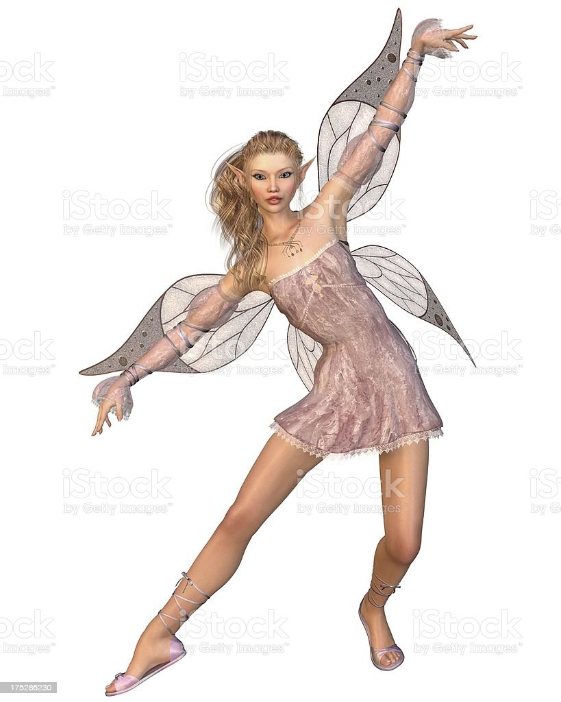 Pretty Pink Fairy royalty-free stock photo
