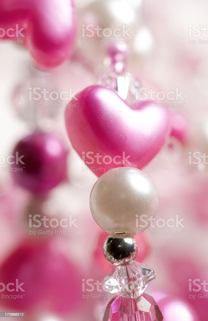 pretty pink heart decoration royalty-free stock photo