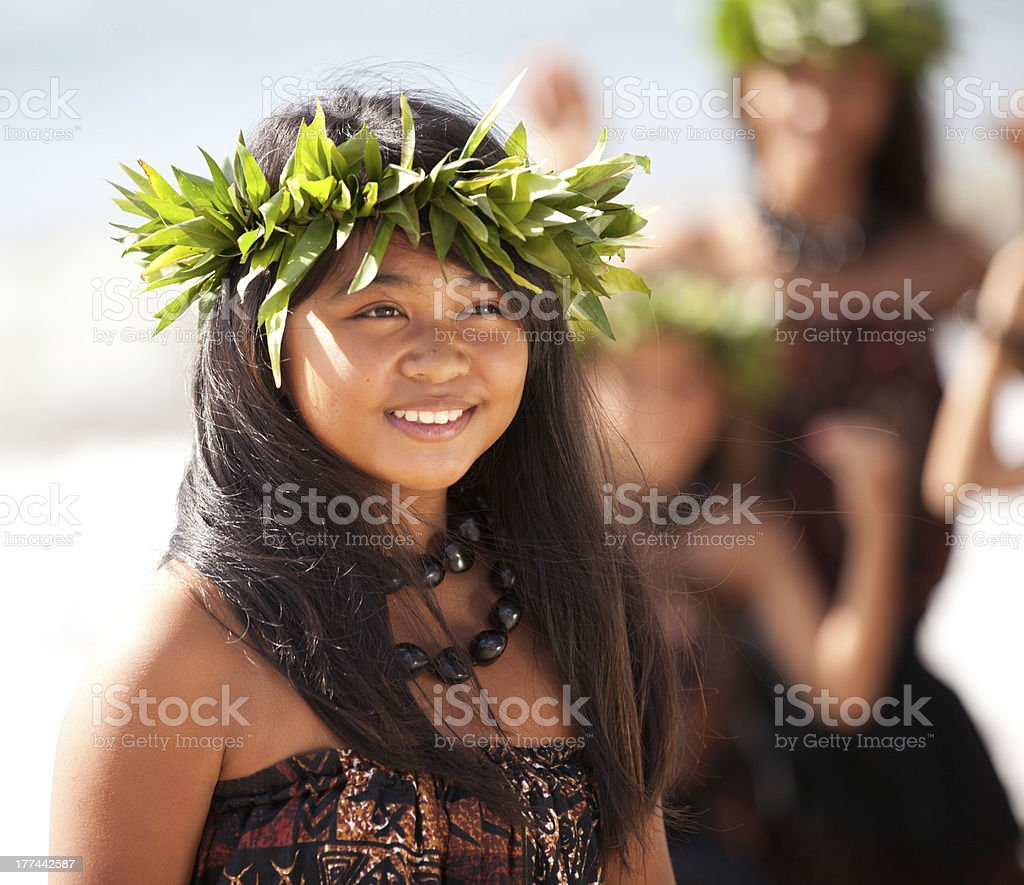 Pretty Polynesian Girl stock photo