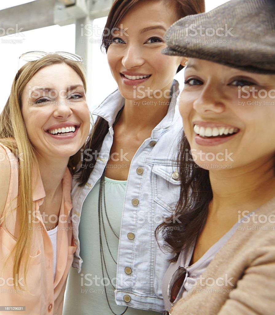 Pretty portrait of the girls stock photo