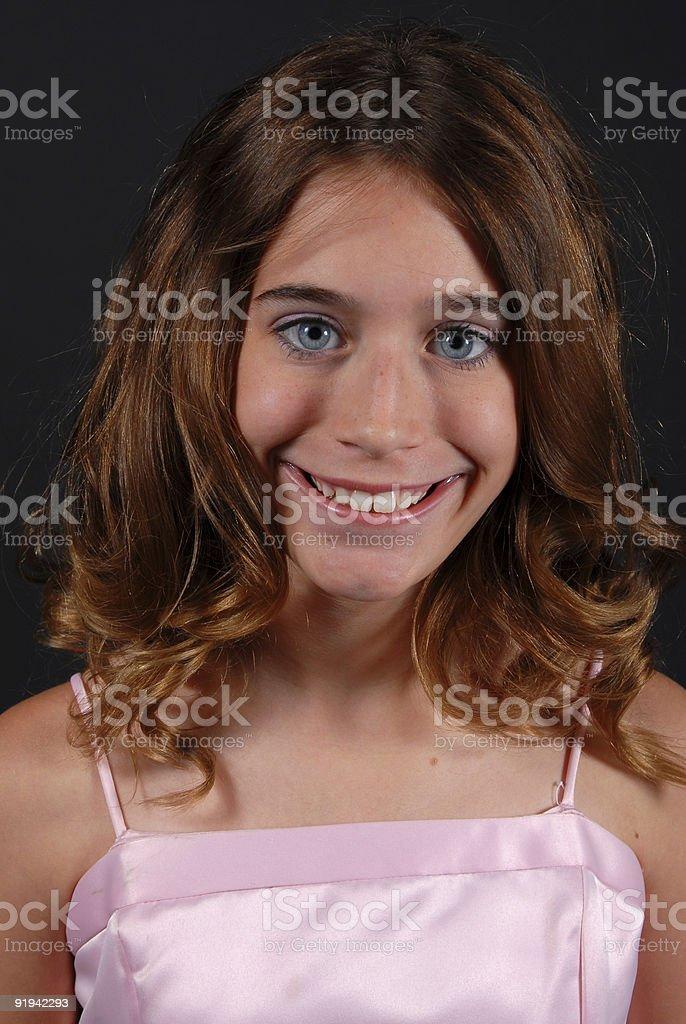 Pretty pre-teen stock photo