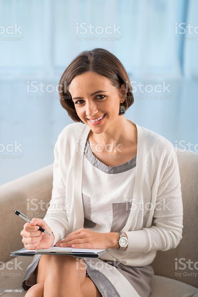 Pretty psychologist stock photo