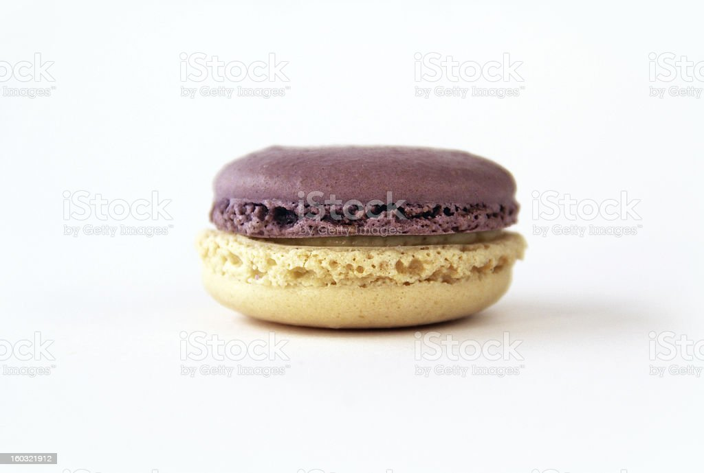Pretty Purple and White Macaron Close-Up royalty-free stock photo