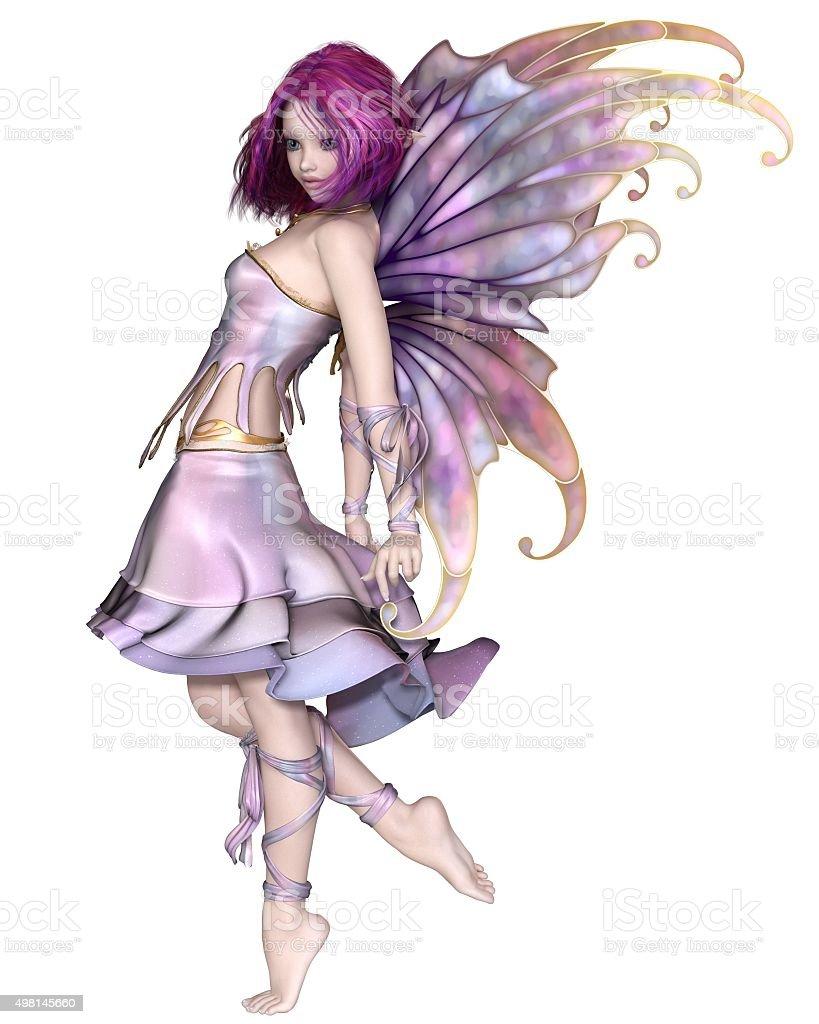 Pretty Purple Fairy stock photo