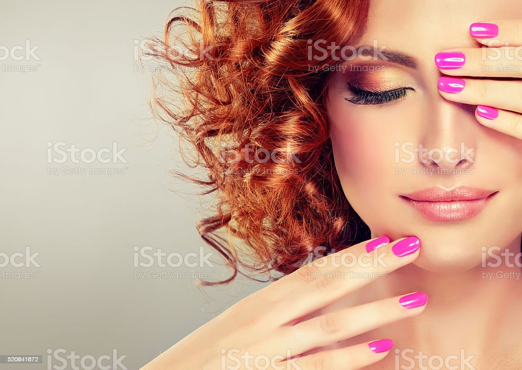 Pretty red haired girl. royalty-free stock photo