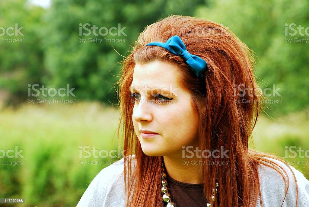 pretty redhead royalty-free stock photo