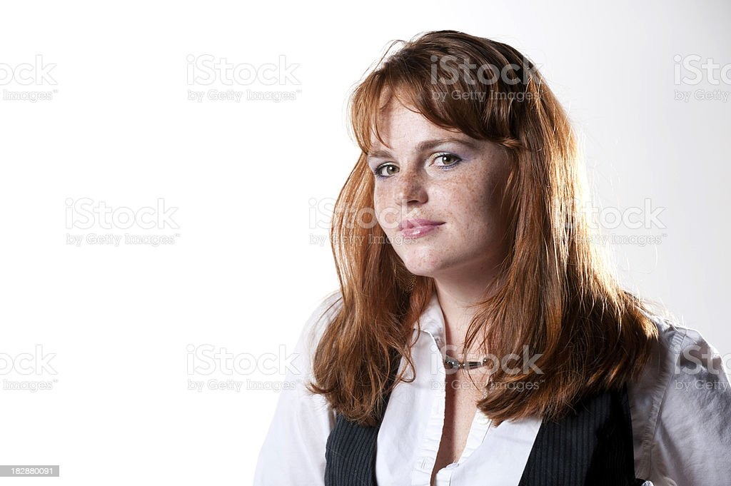 Pretty redheaded woman royalty-free stock photo