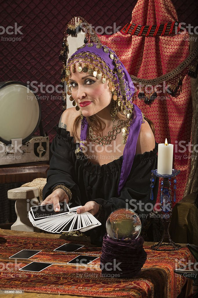 Pretty Roma Fortune Teller stock photo