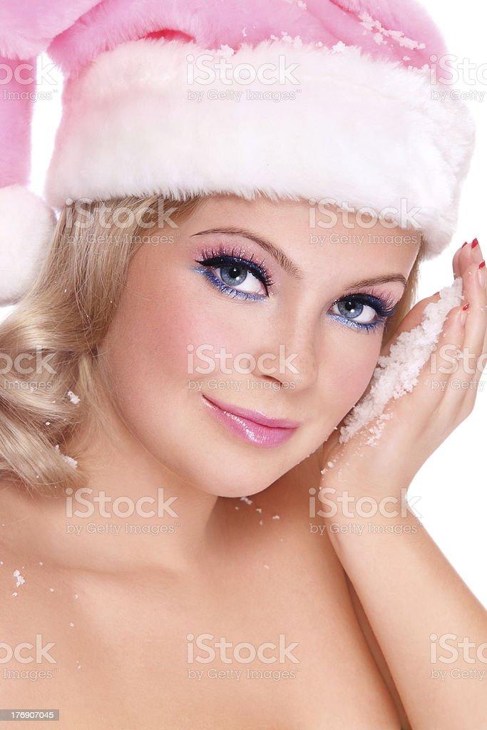 Pretty Santa Helper stock photo
