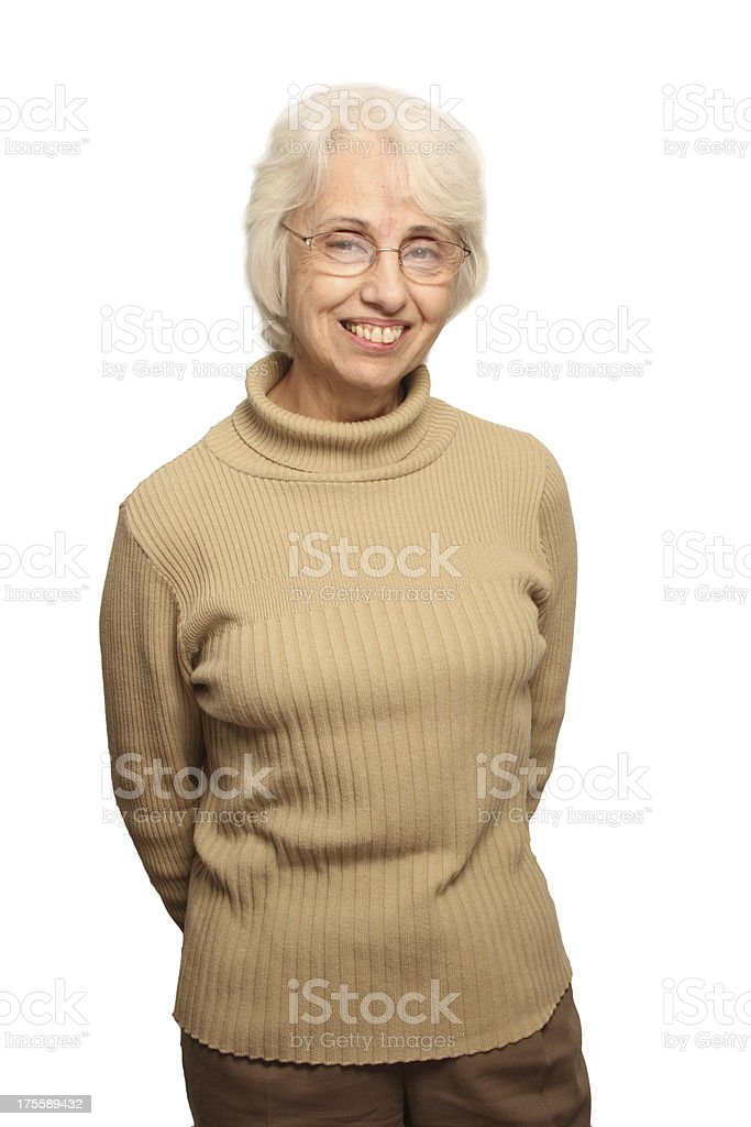 Pretty Senior Woman smile stock photo