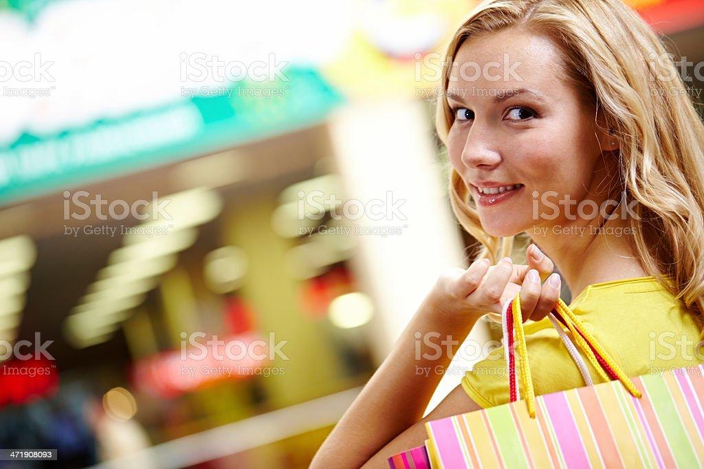 Pretty shopper royalty-free stock photo