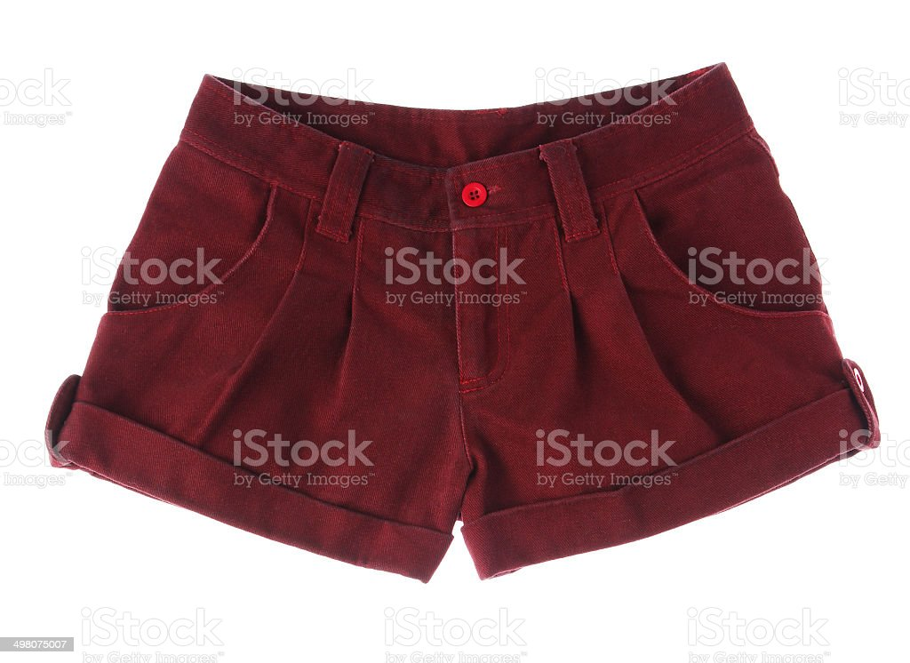 Pretty short pant for a pretty girl isolated stock photo
