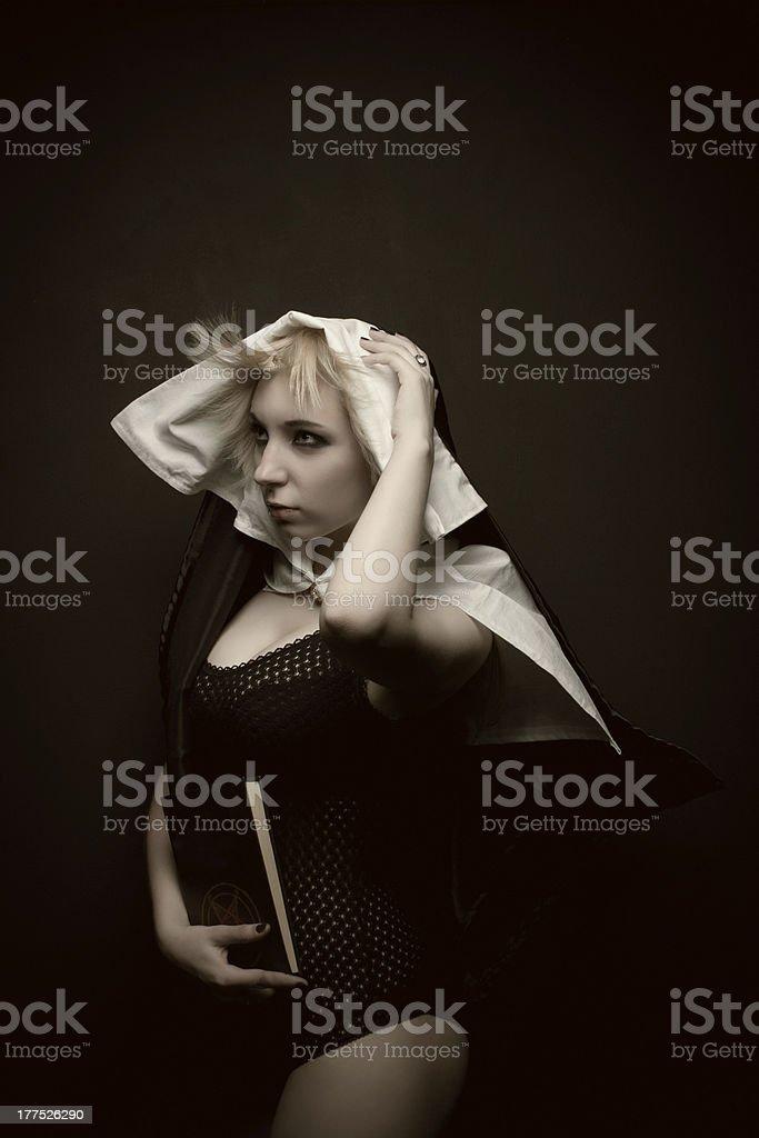 Pretty sinner royalty-free stock photo