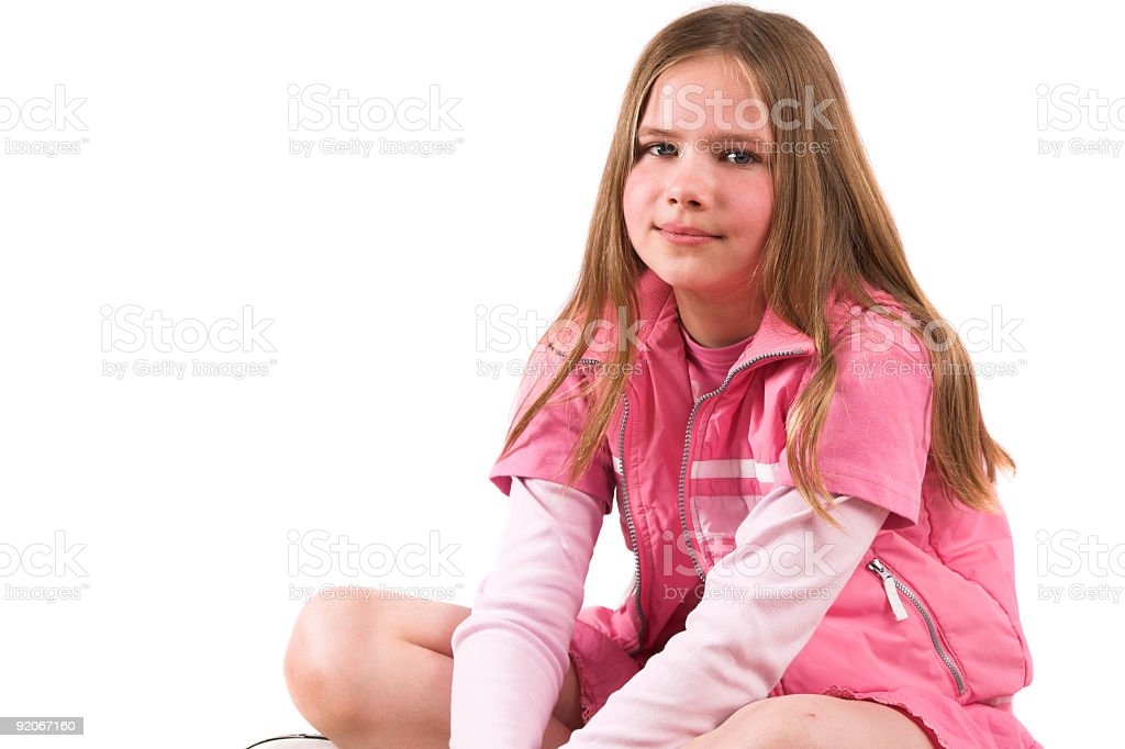 Pretty smiling ten year old girl royalty-free stock photo