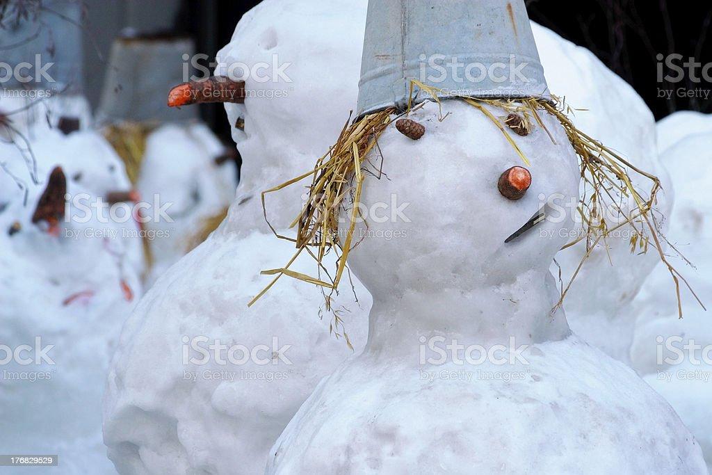 Pretty snowwoman royalty-free stock photo
