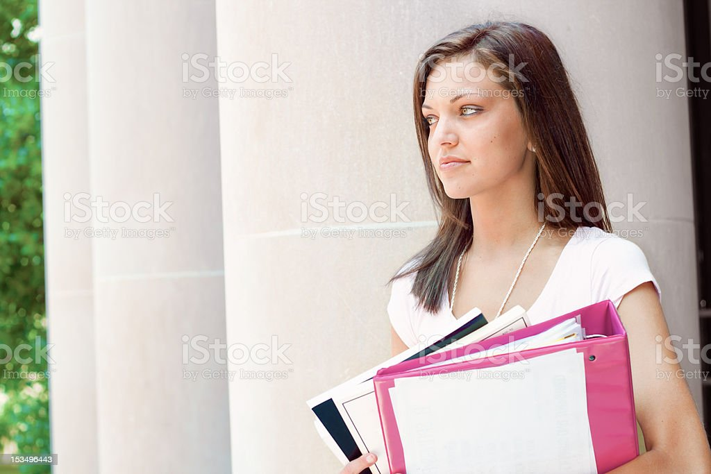 Pretty student ready for class royalty-free stock photo