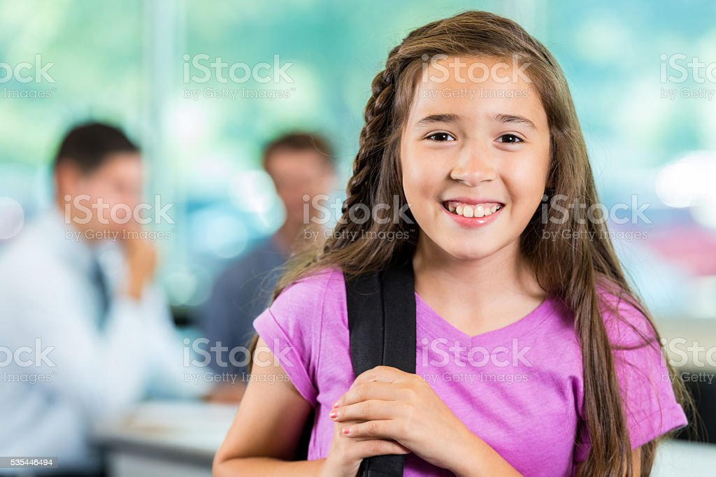 Pretty Student ready for class stock photo