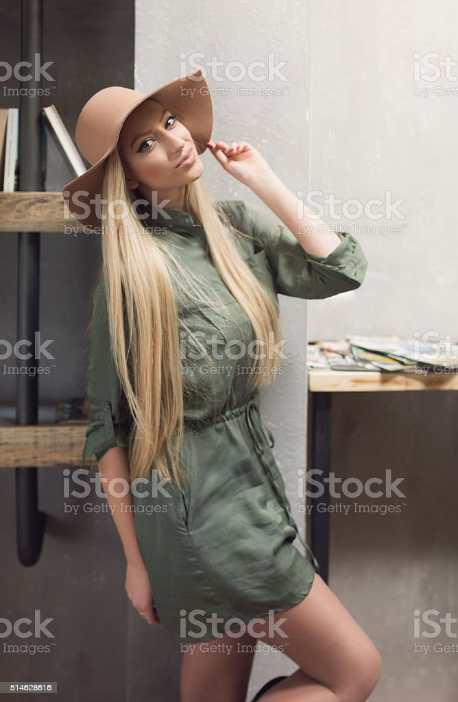 Pretty Sweet With A Hat stock photo