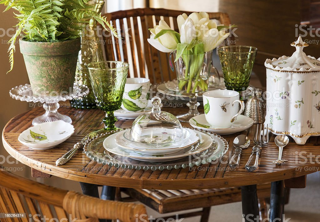Pretty Table Setting royalty-free stock photo