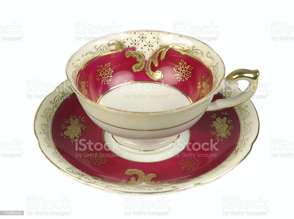 Pretty tea cup royalty-free stock photo