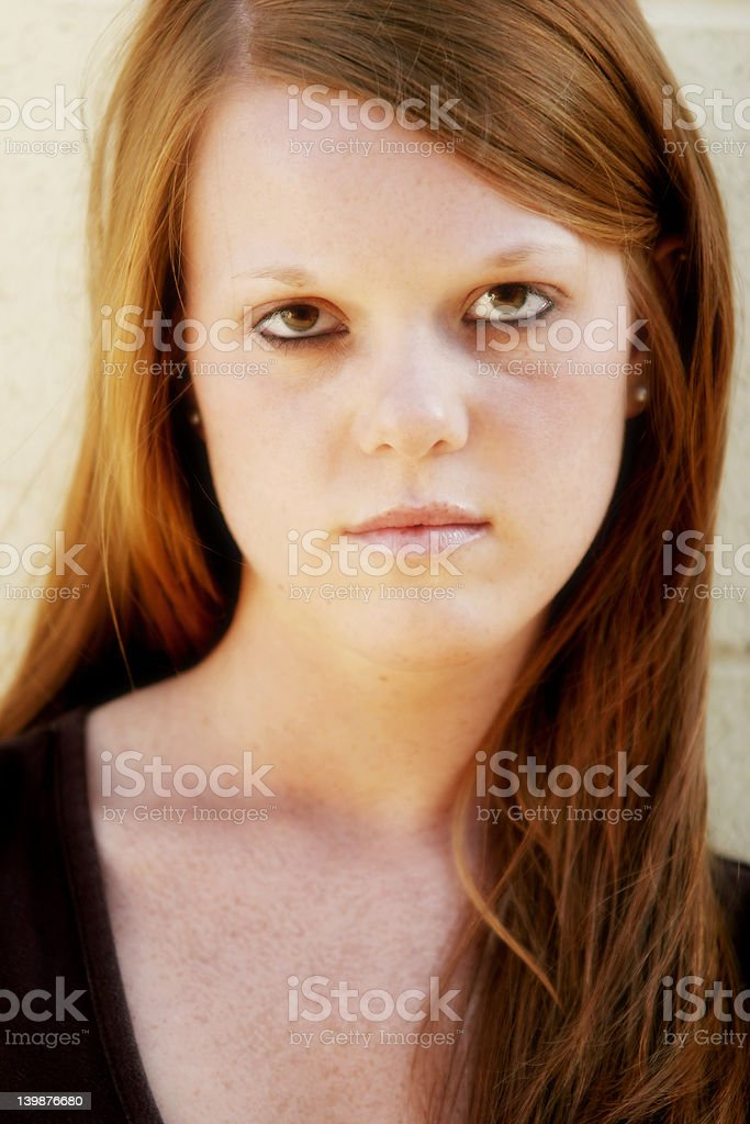 pretty teen frustrated royalty-free stock photo